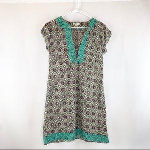Tyler Boe Boho Embroidered Short Sleeve Tunic
